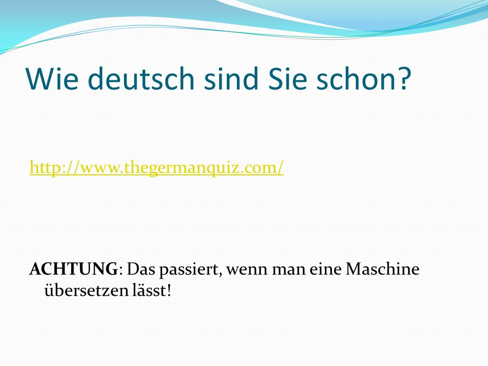 Wie deutsch sind Sie schon