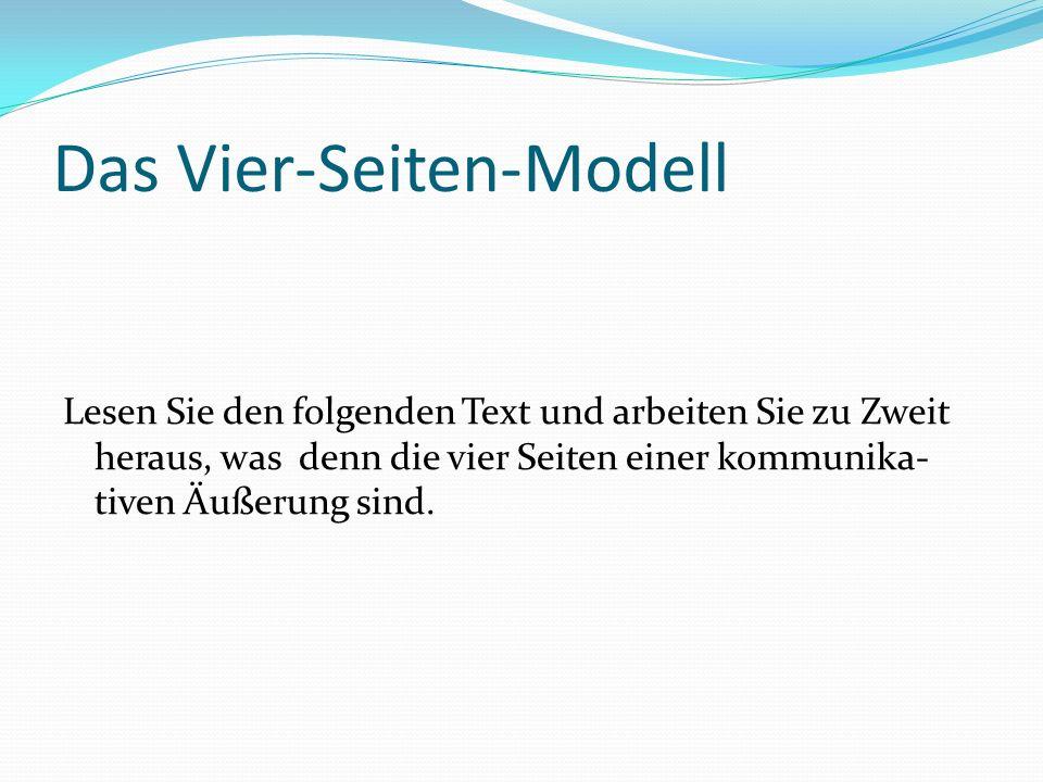 Das Vier-Seiten-Modell