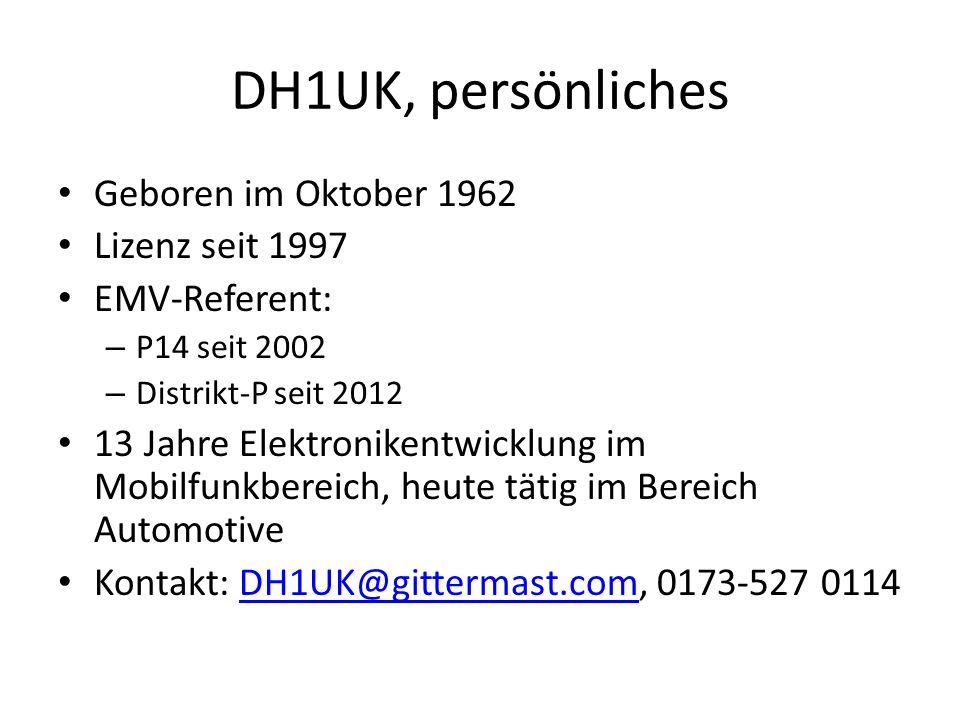 DH1UK, persönliches Geboren im Oktober 1962 Lizenz seit 1997