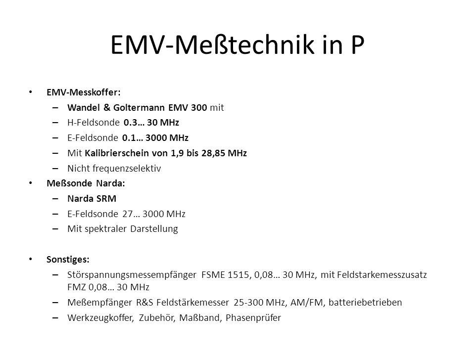 EMV-Meßtechnik in P EMV-Messkoffer: Wandel & Goltermann EMV 300 mit