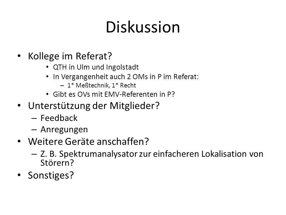Diskussion Kollege im Referat Unterstützung der Mitglieder