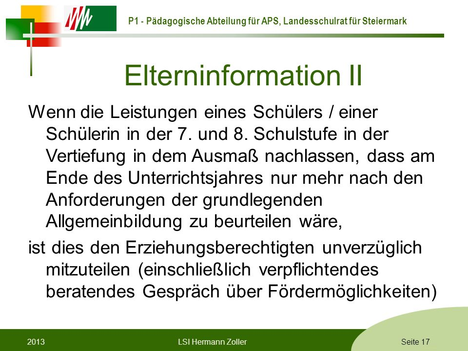Elterninformation II