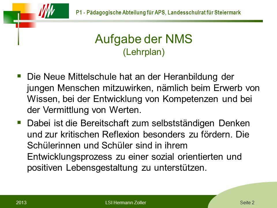 Aufgabe der NMS (Lehrplan)