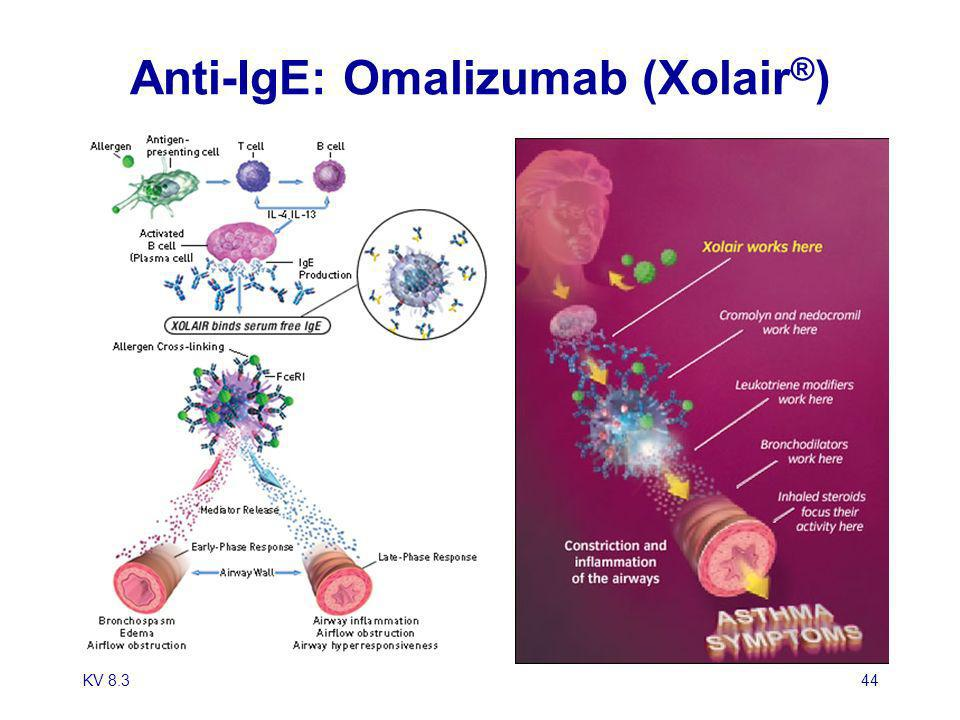 Anti-IgE: Omalizumab (Xolair®)