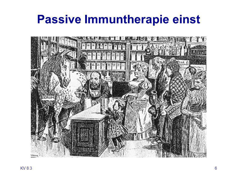 Passive Immuntherapie einst