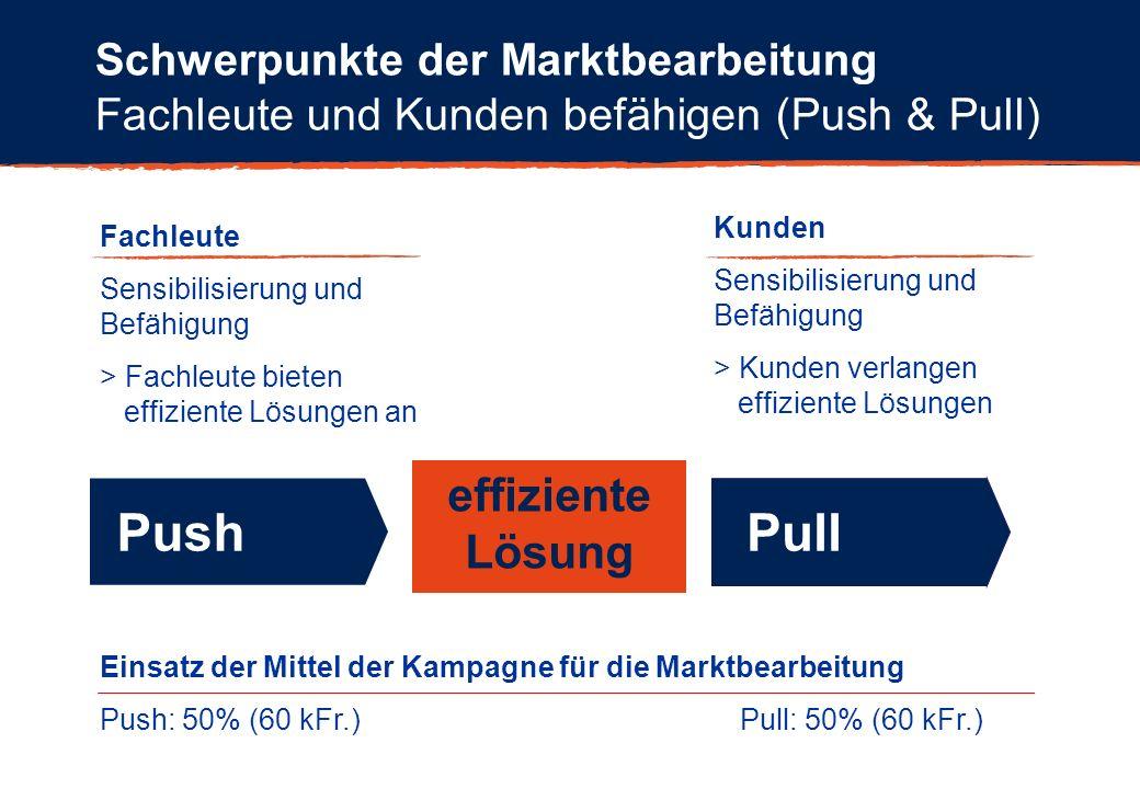 Push Pull effiziente Lösung Schwerpunkte der Marktbearbeitung