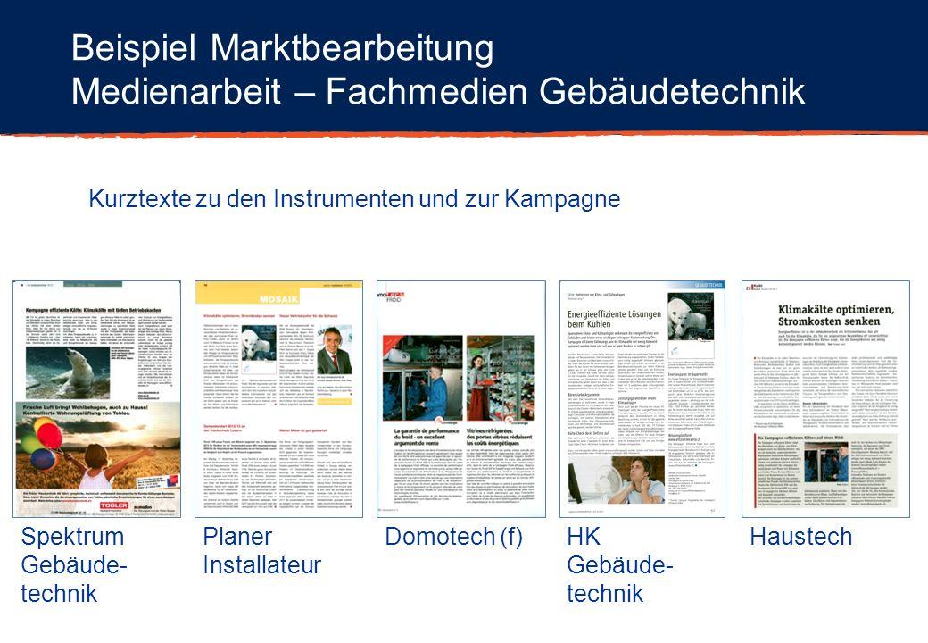 Beispiel Marktbearbeitung Medienarbeit – Fachmedien Gebäudetechnik