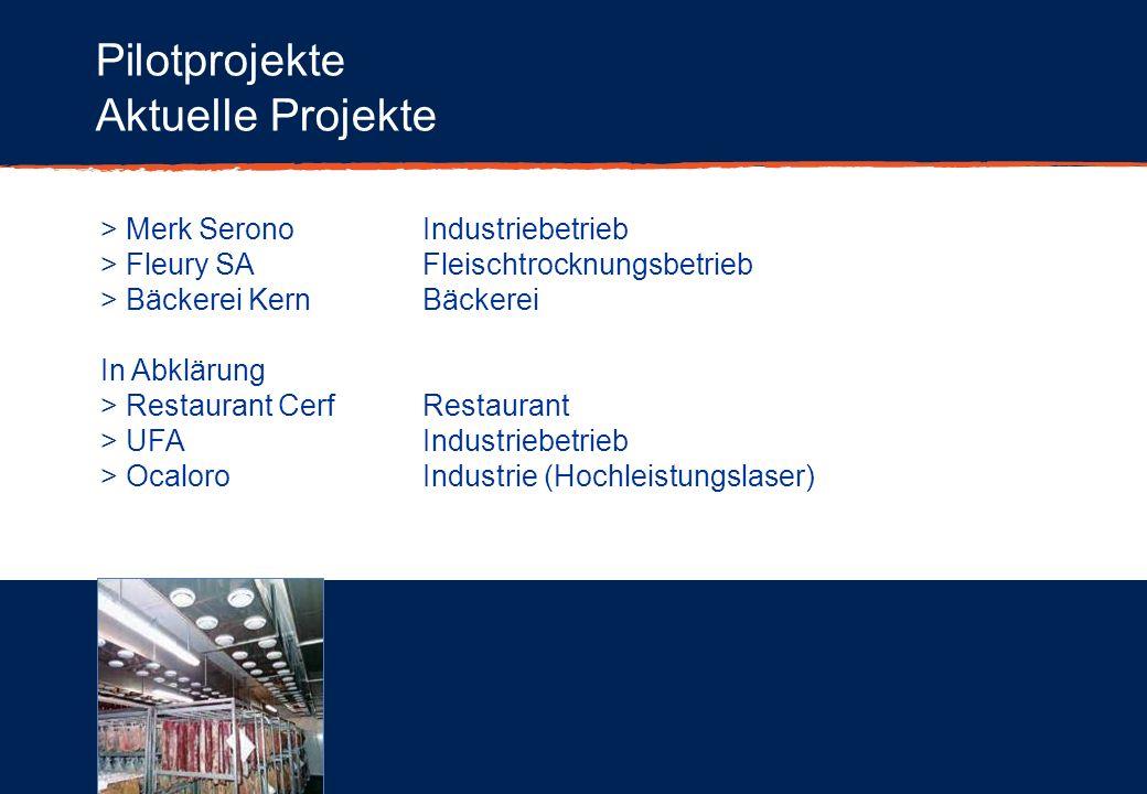 Pilotprojekte Aktuelle Projekte > Merk Serono Industriebetrieb