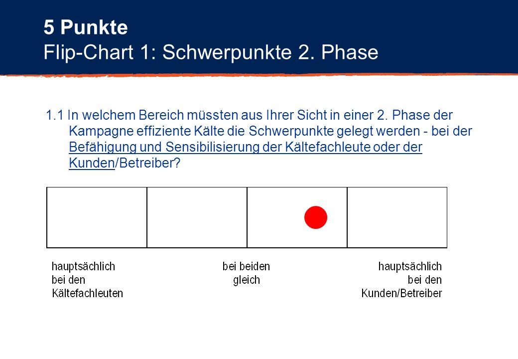 Flip-Chart 1: Schwerpunkte 2. Phase