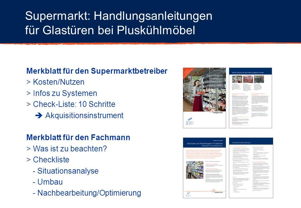 Supermarkt: Handlungsanleitungen für Glastüren bei Pluskühlmöbel
