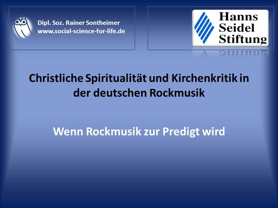 Christliche Spiritualität und Kirchenkritik in der deutschen Rockmusik