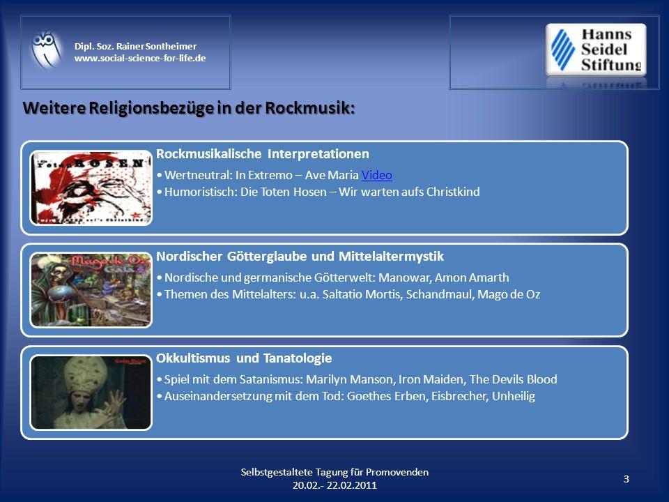 Weitere Religionsbezüge in der Rockmusik: