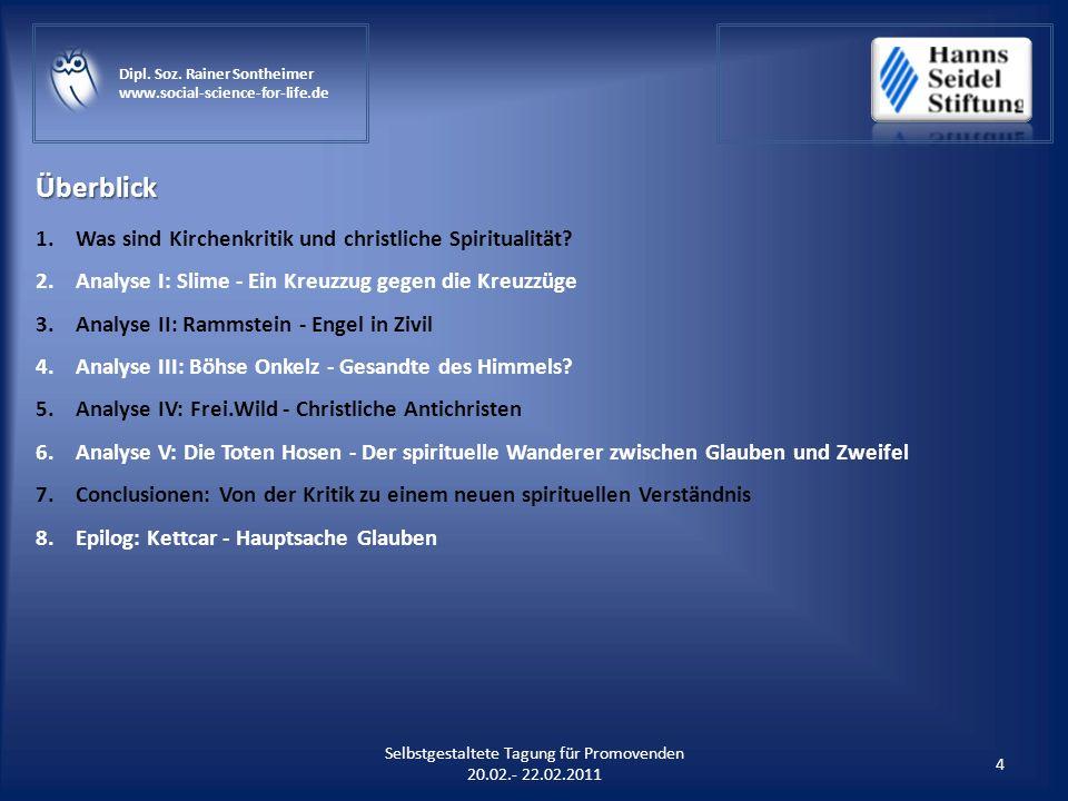Selbstgestaltete Tagung für Promovenden 20.02.- 22.02.2011