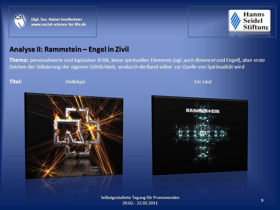 Analyse II: Rammstein – Engel in Zivil