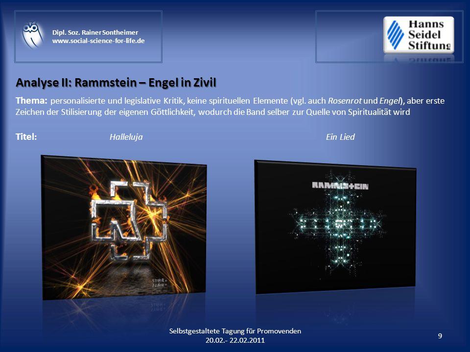 Analyse II: Rammstein – Engel in Zivil