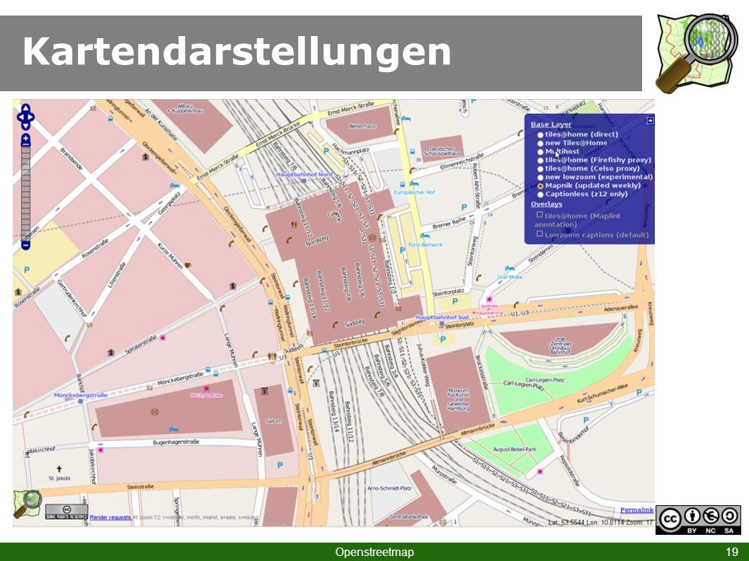 Kartendarstellungen Hamburg Hbf I Openstreetmap