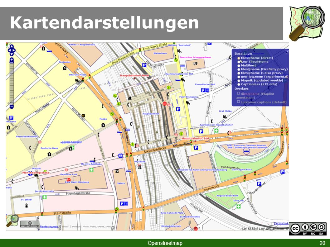 Kartendarstellungen Hamburg Hbf II Openstreetmap