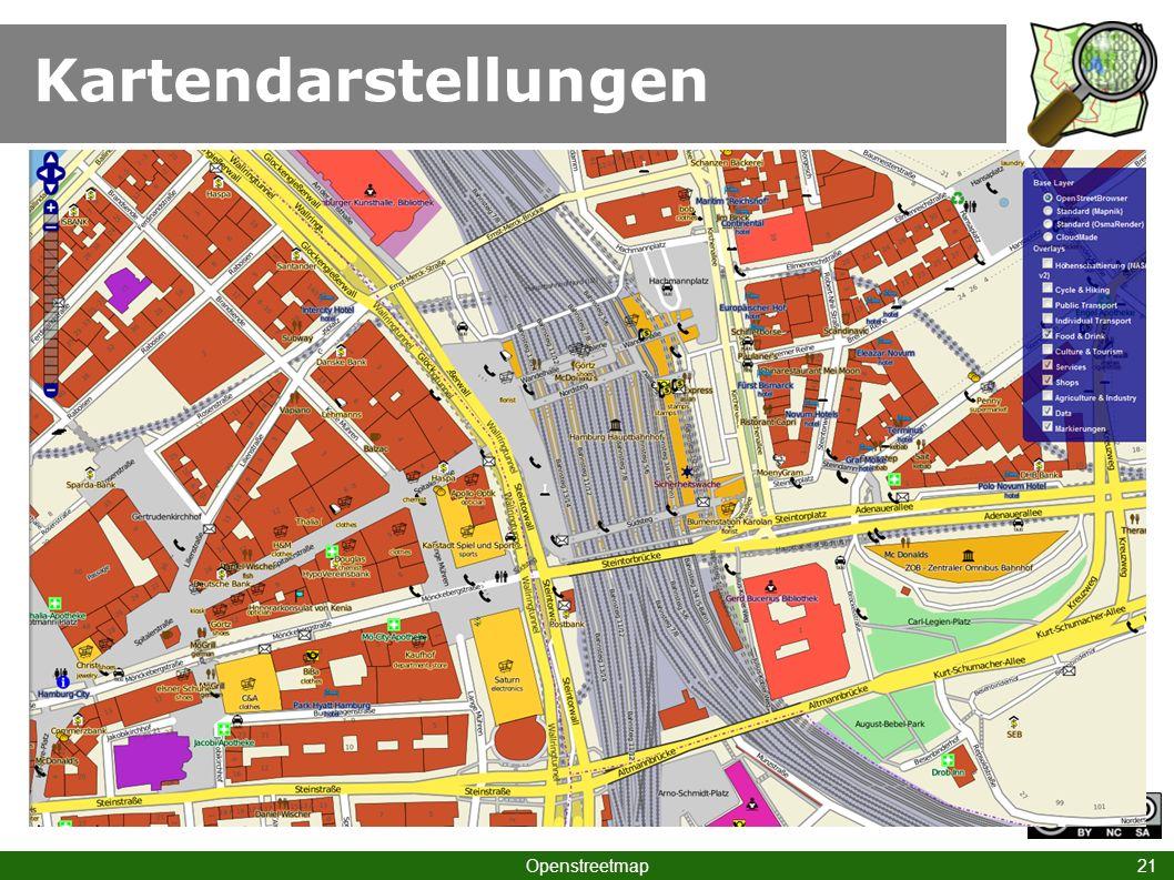 Kartendarstellungen Openstreetmap