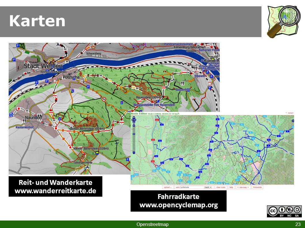 Fahrradkarte www.opencyclemap.org