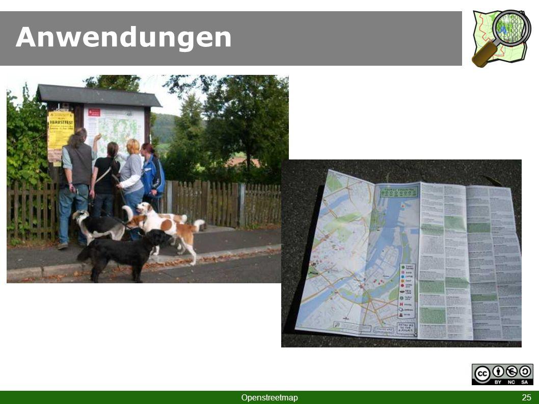 Anwendungen Hinweis auf Freiburg-Karte, Anregung an Stadtväter!