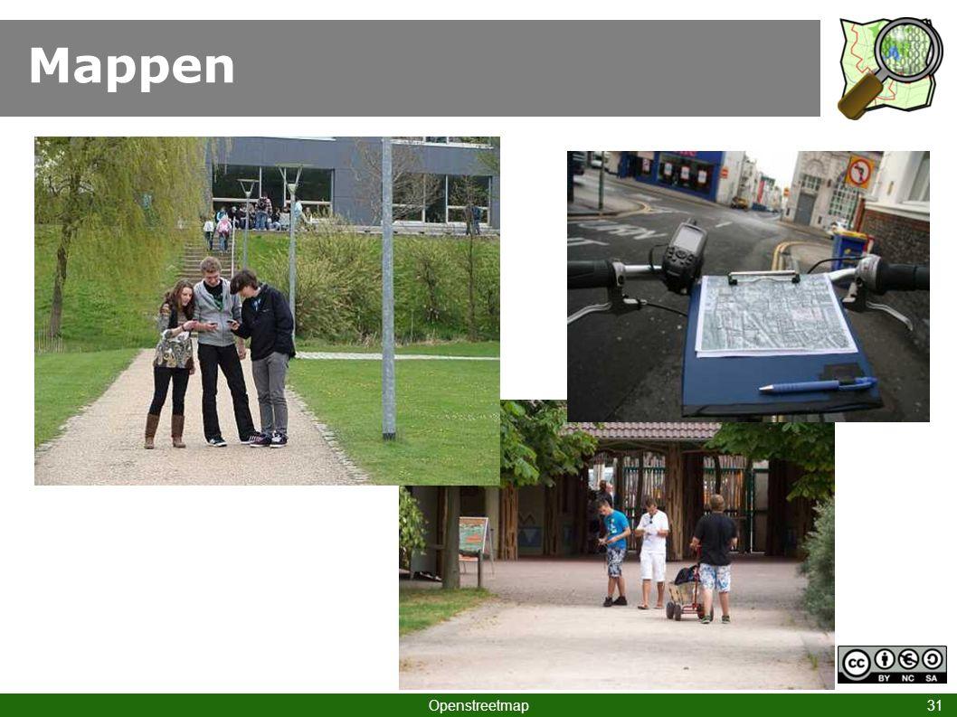 Mappen Hinweis auf eigene Projekte Openstreetmap