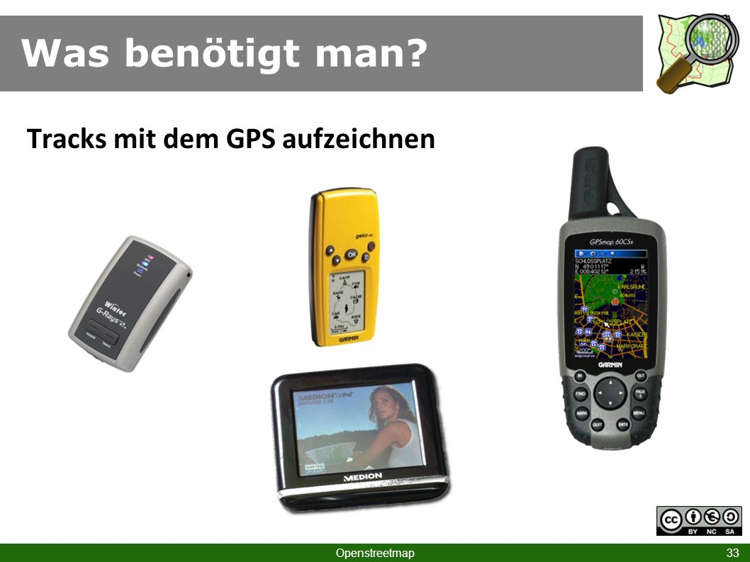 Was benötigt man Tracks mit dem GPS aufzeichnen