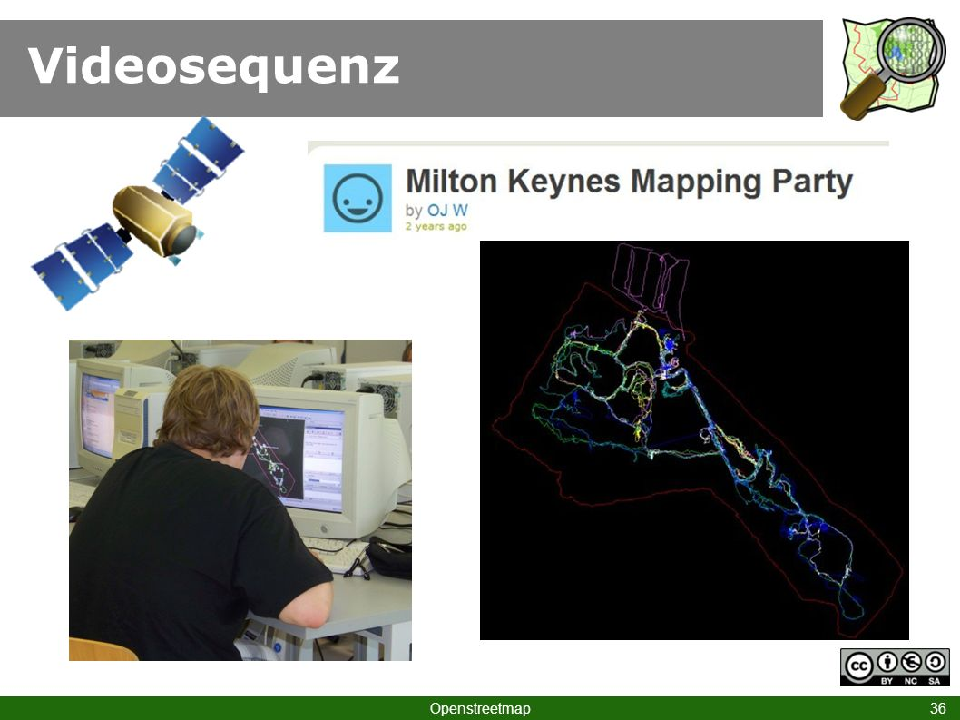 Videosequenz Klick Sat  GPS Klick Keynes  Mappingparty