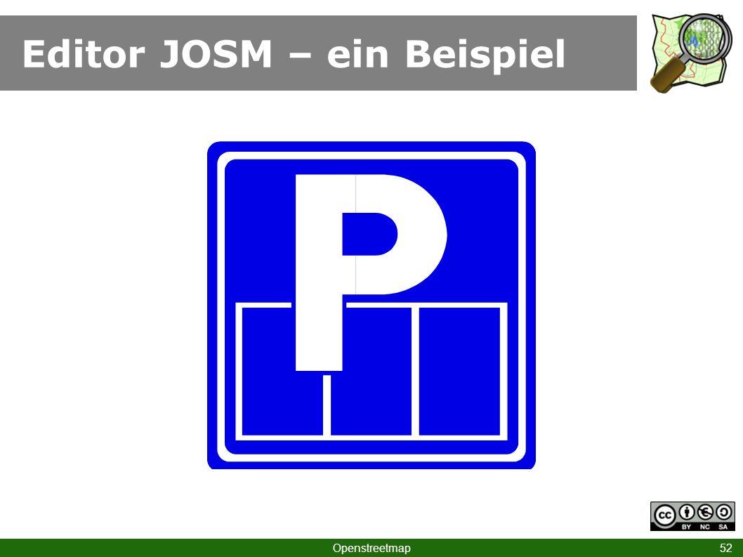 Editor JOSM – ein Beispiel