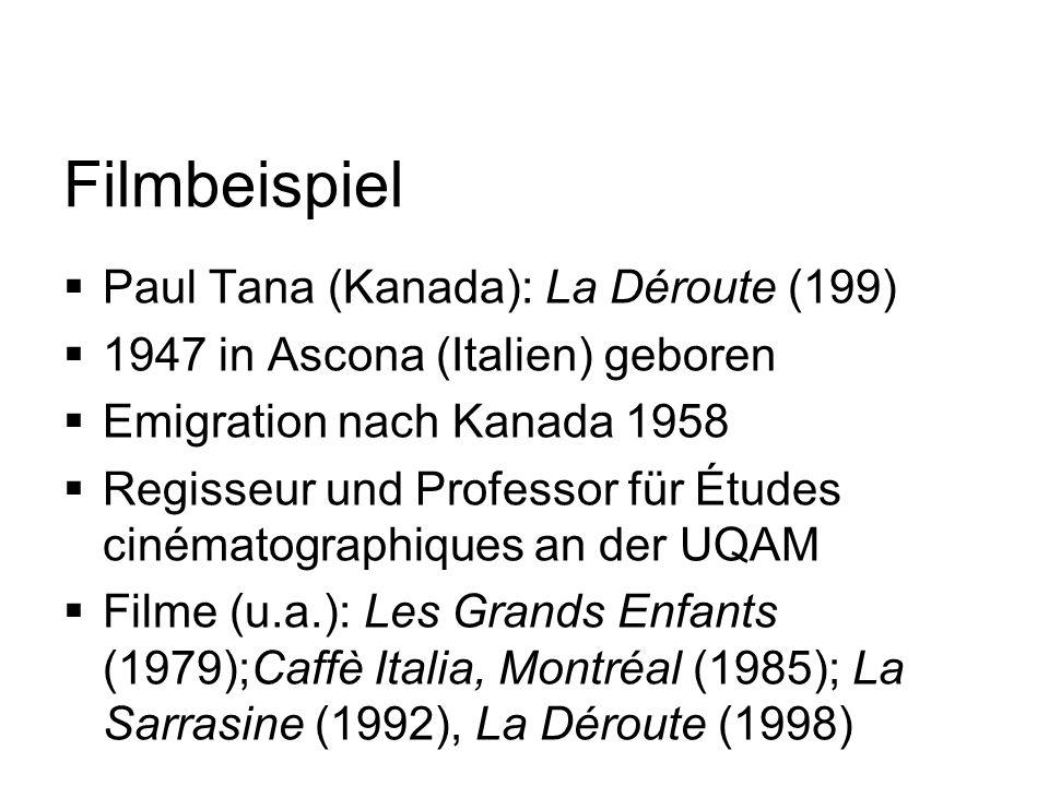 Filmbeispiel Paul Tana (Kanada): La Déroute (199)