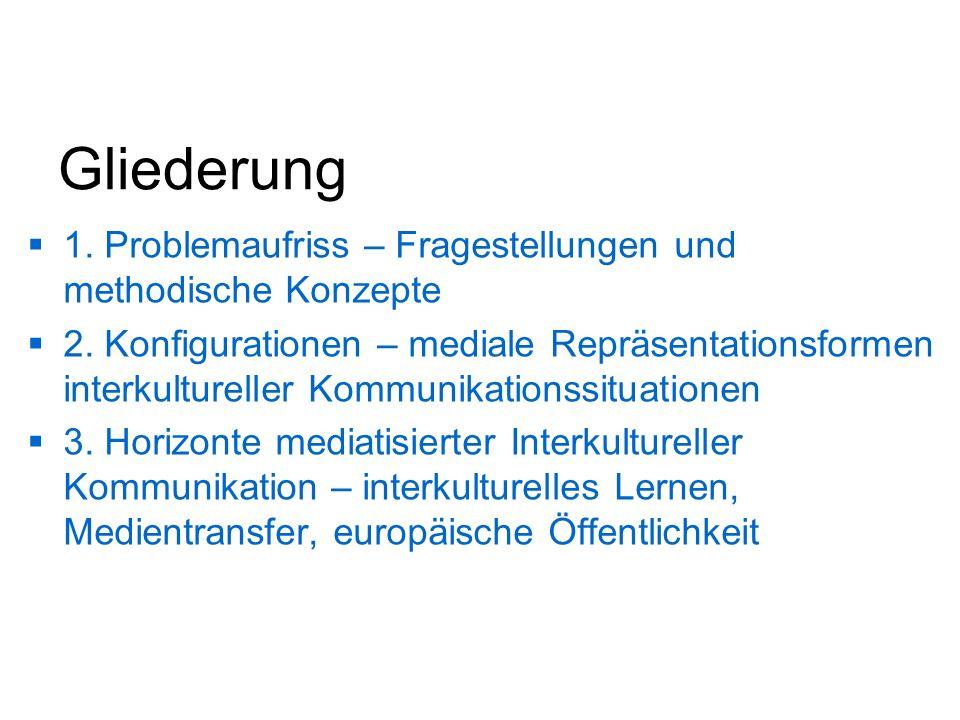 Gliederung 1. Problemaufriss – Fragestellungen und methodische Konzepte.