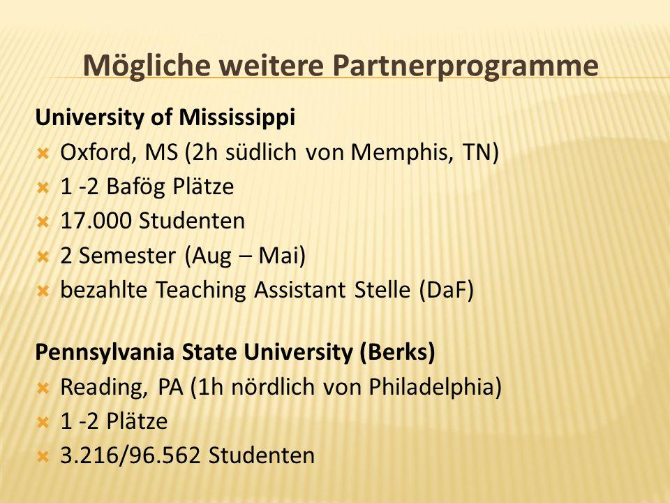 Mögliche weitere Partnerprogramme