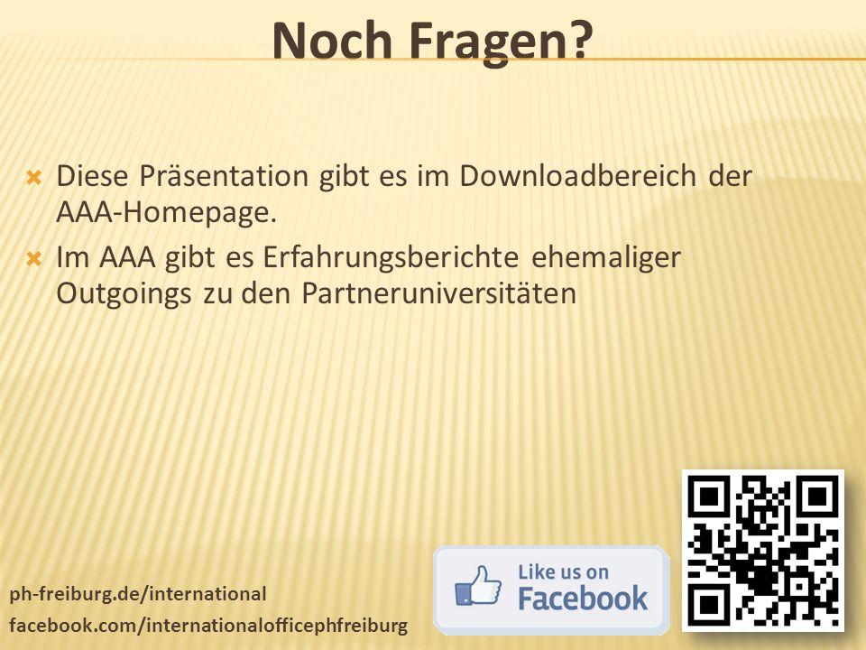 Noch Fragen Diese Präsentation gibt es im Downloadbereich der AAA-Homepage.