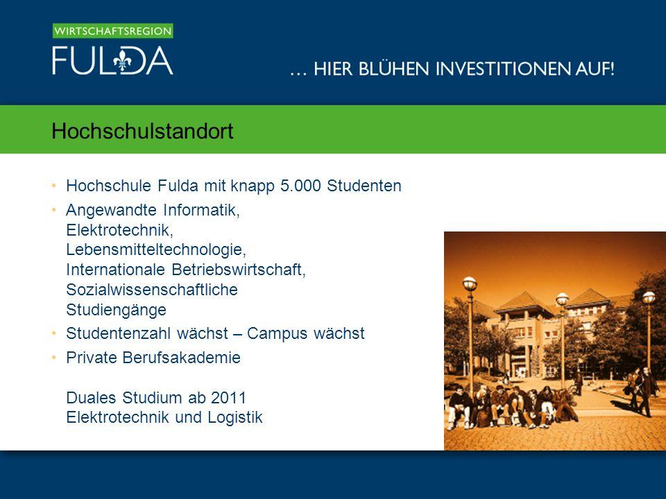 Hochschulstandort Hochschule Fulda mit knapp 5.000 Studenten