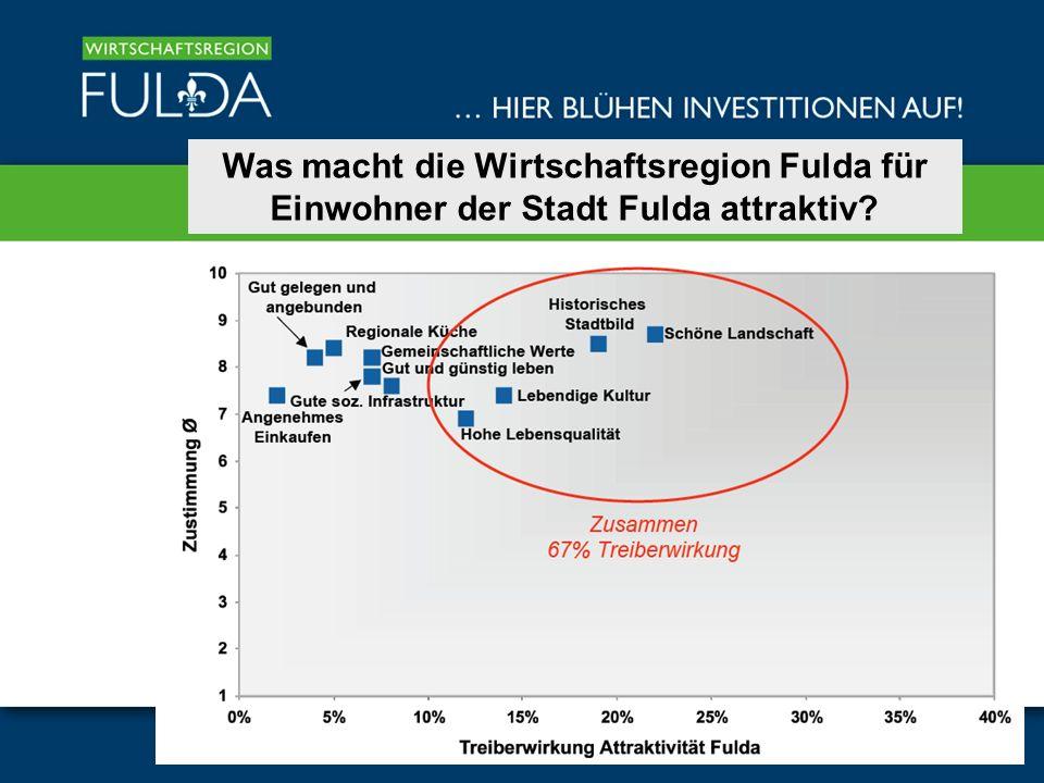 Was macht die Wirtschaftsregion Fulda für Einwohner der Stadt Fulda attraktiv