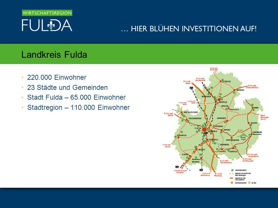 Landkreis Fulda 220.000 Einwohner 23 Städte und Gemeinden