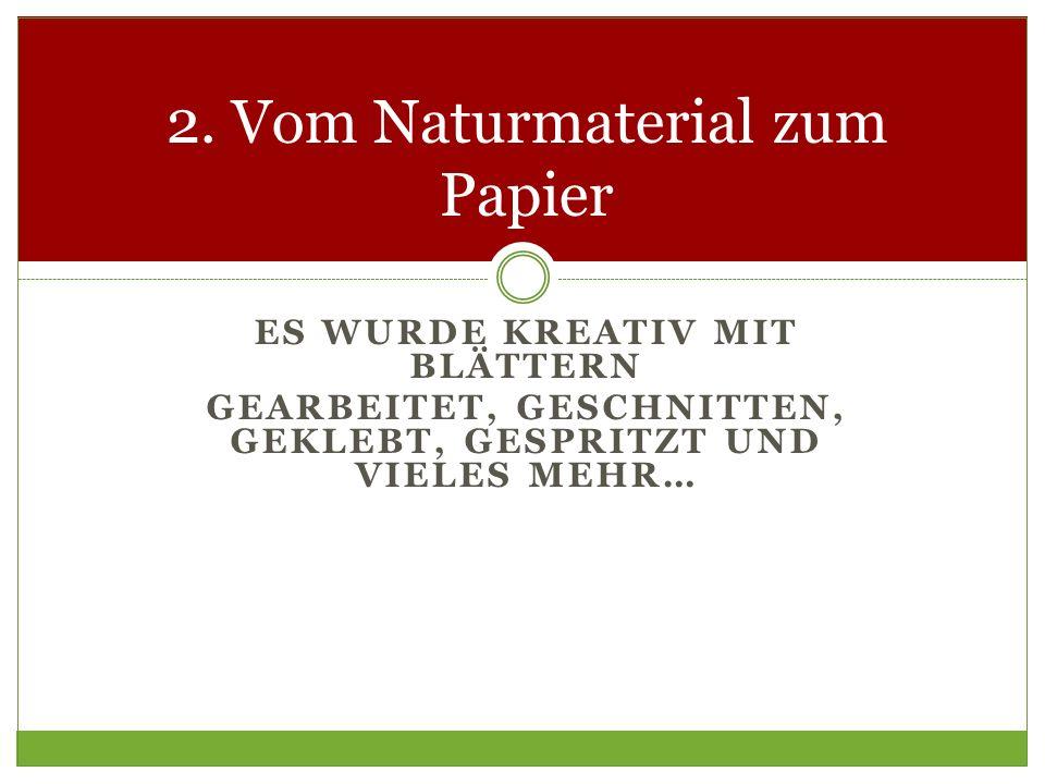 2. Vom Naturmaterial zum Papier