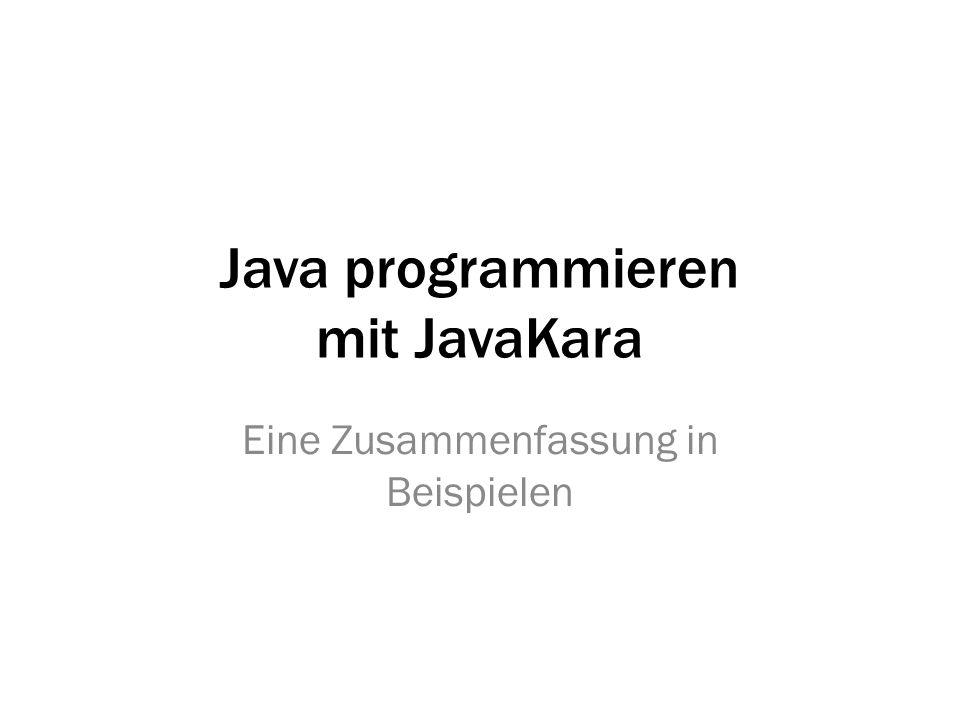 Java programmieren mit JavaKara