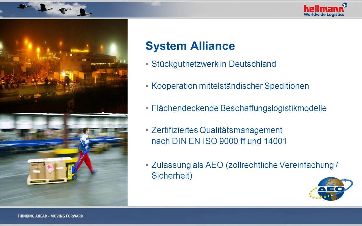System Alliance Stückgutnetzwerk in Deutschland