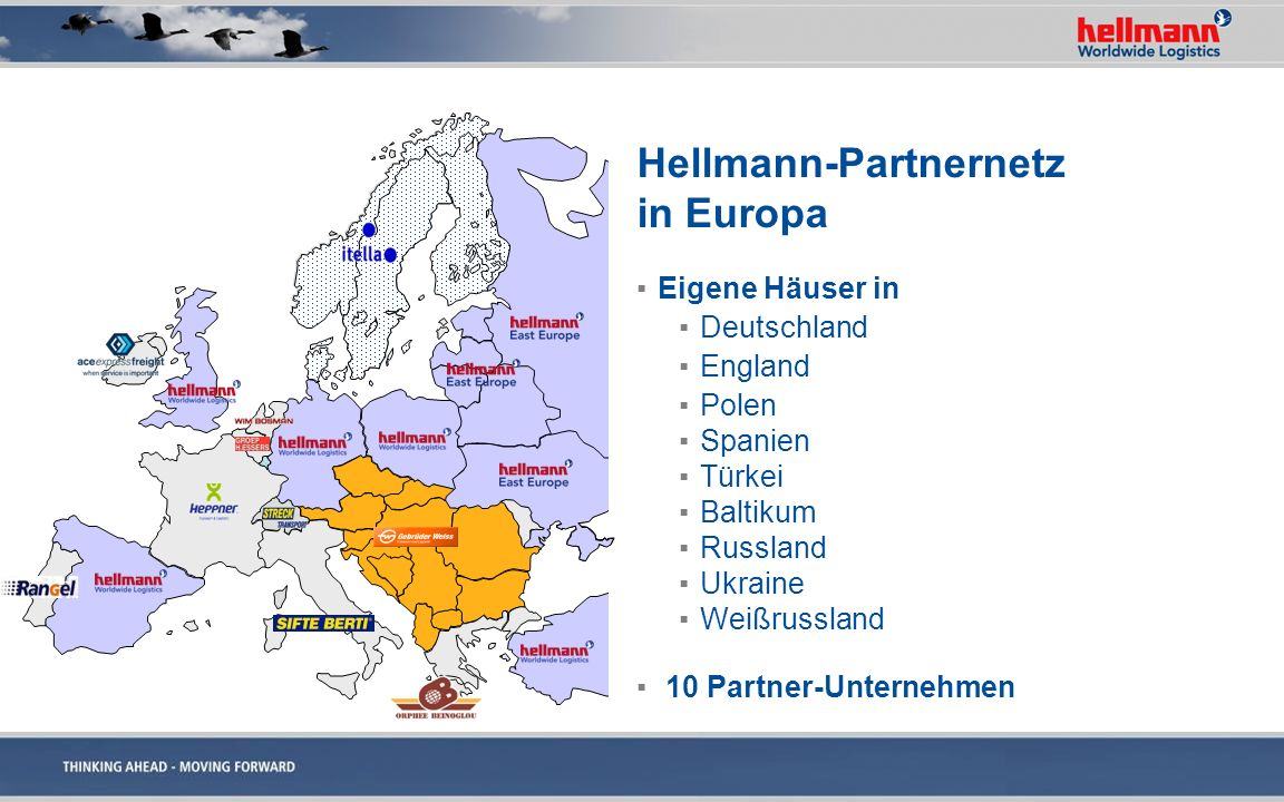 Hellmann-Partnernetz in Europa