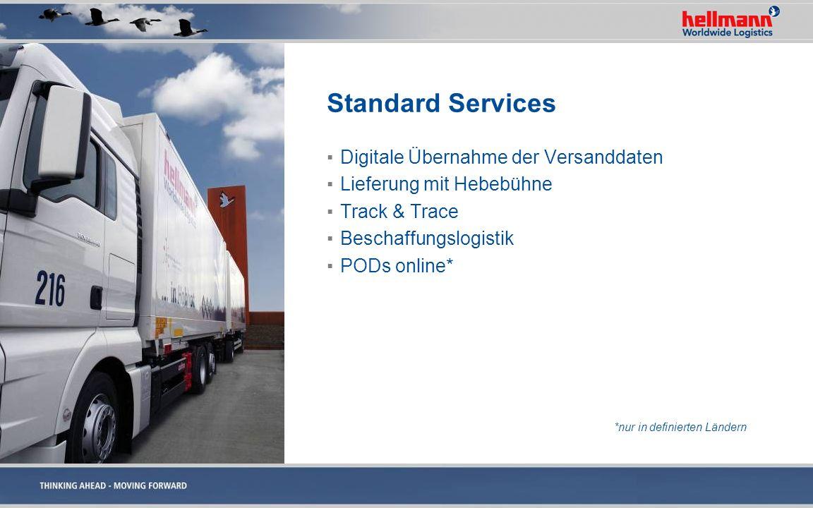 Standard Services Digitale Übernahme der Versanddaten