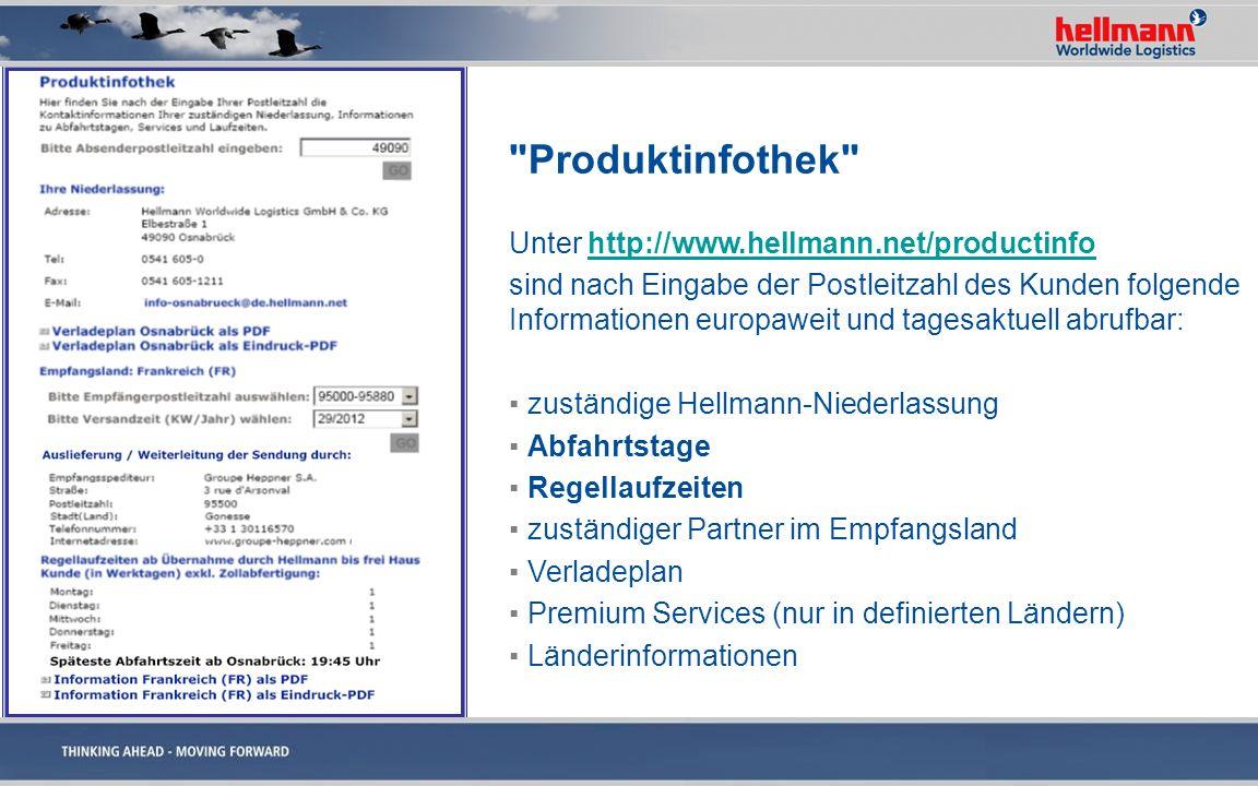 Produktinfothek Unter http://www.hellmann.net/productinfo