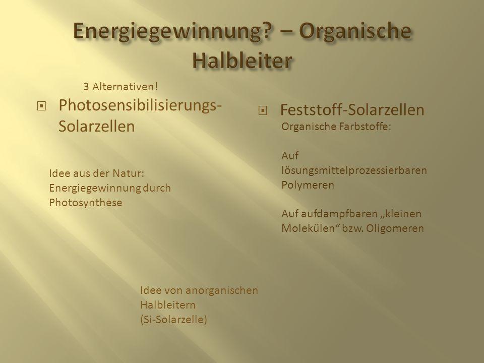 Energiegewinnung – Organische Halbleiter
