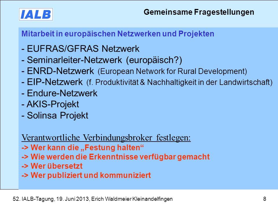 - EUFRAS/GFRAS Netzwerk - Seminarleiter-Netzwerk (europäisch )