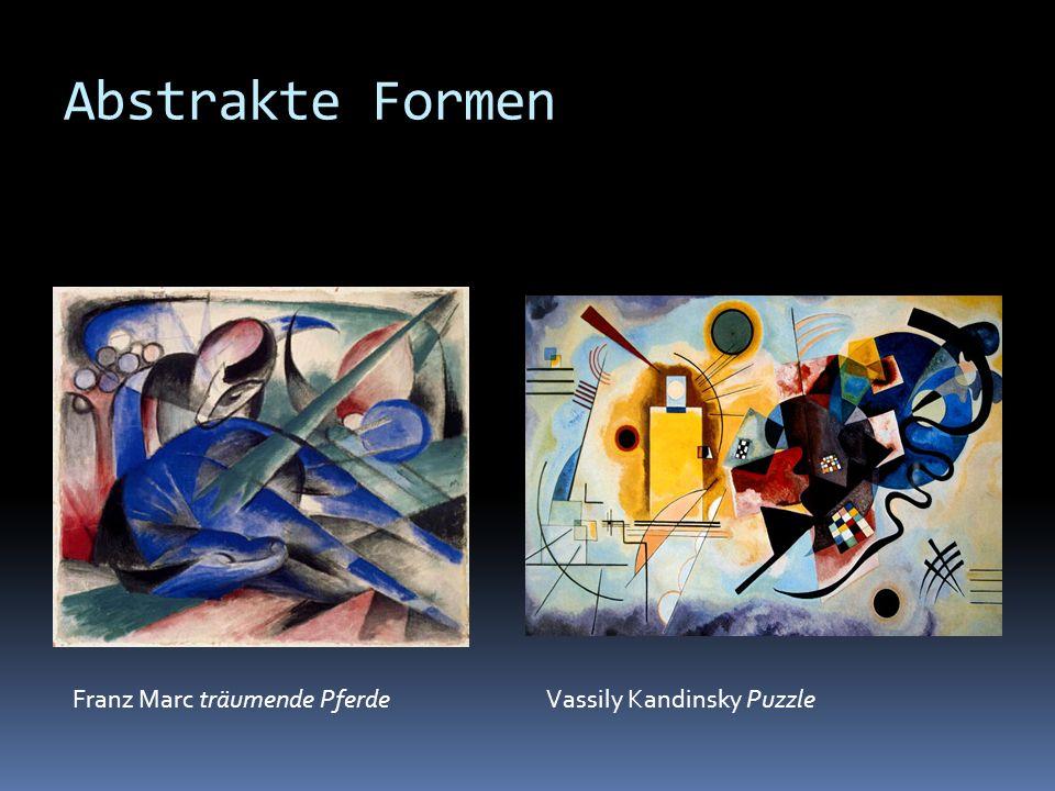 Abstrakte Formen Franz Marc träumende Pferde Vassily Kandinsky Puzzle
