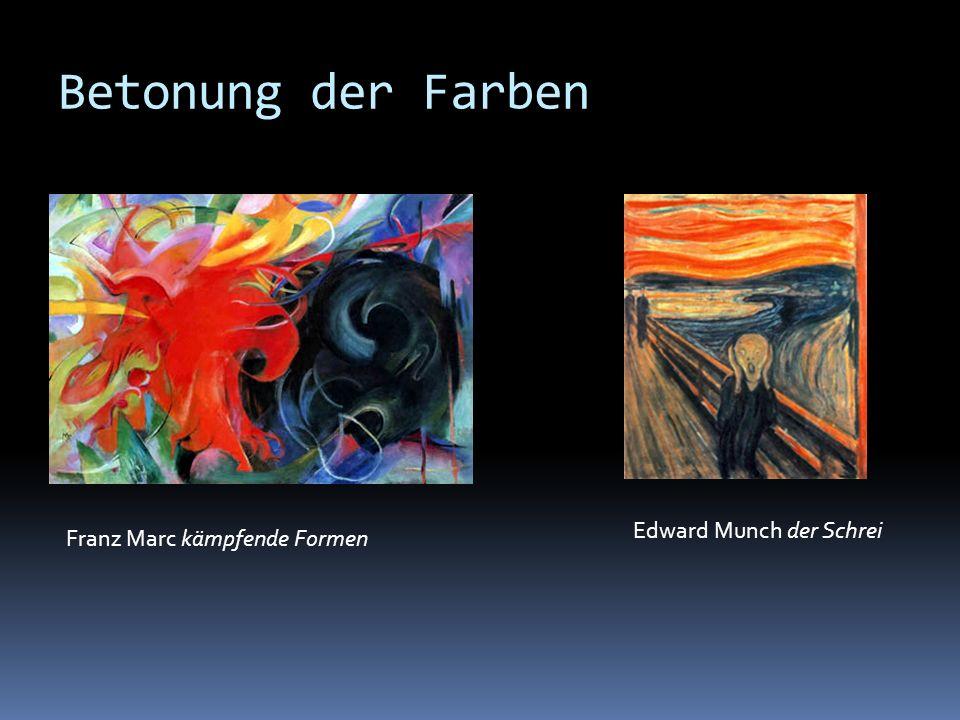 Betonung der Farben Edward Munch der Schrei