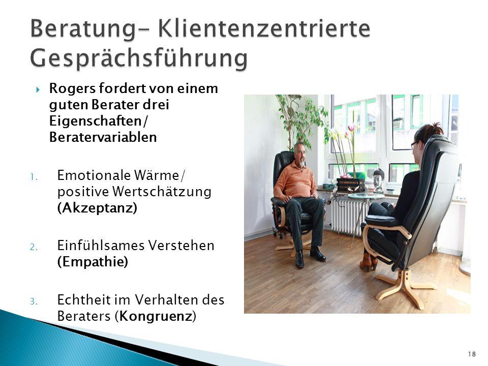 Beratung- Klientenzentrierte Gesprächsführung