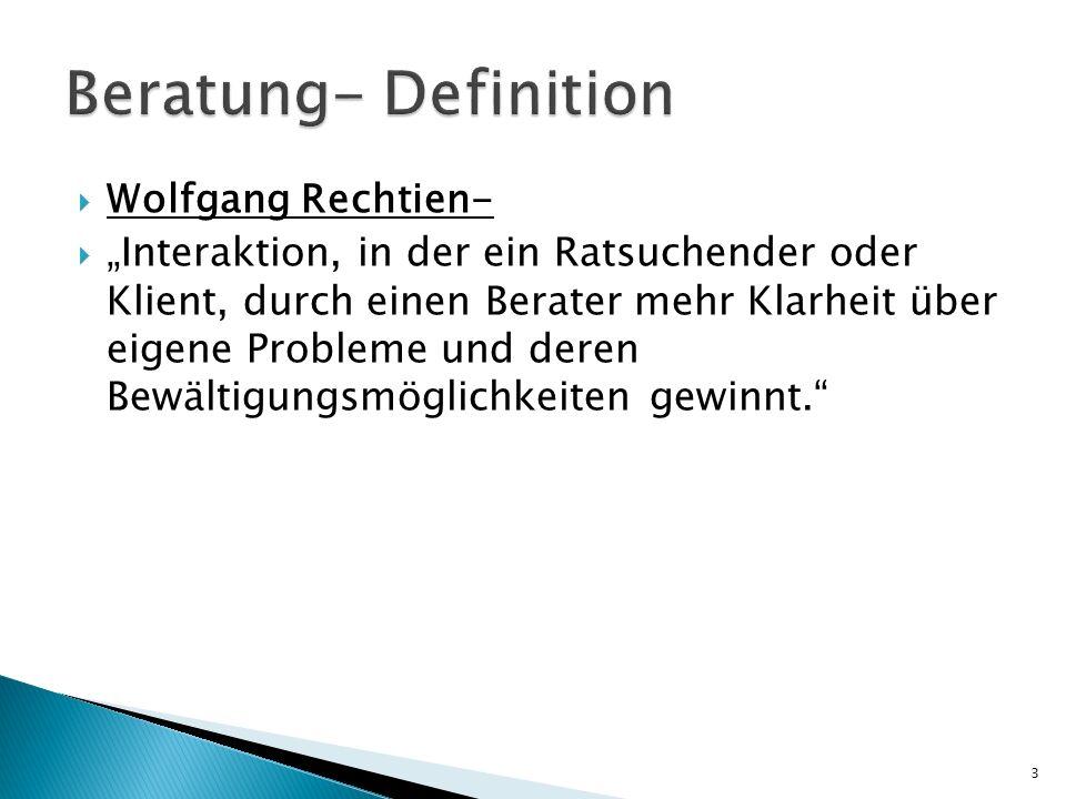Beratung- Definition Wolfgang Rechtien-