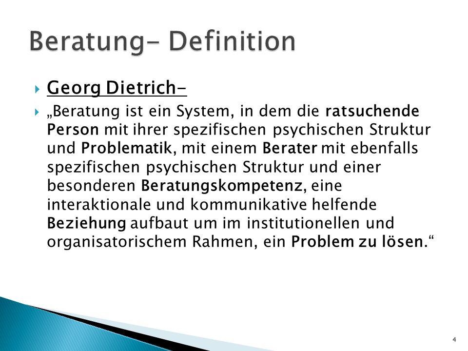 Beratung- Definition Georg Dietrich-