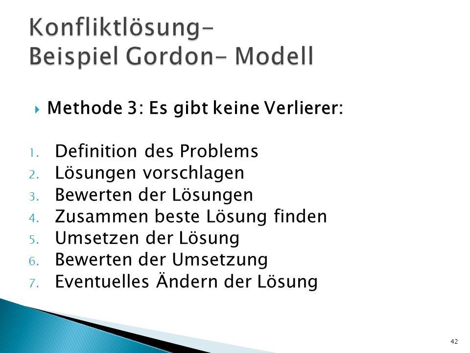 Konfliktlösung- Beispiel Gordon- Modell