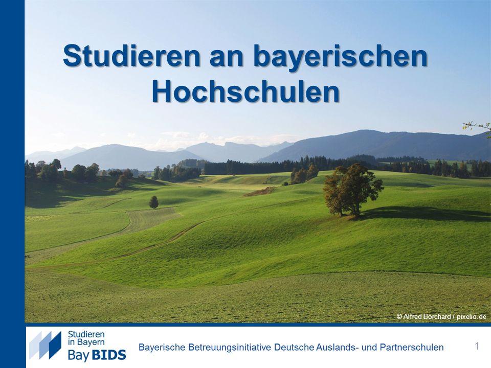 Studieren an bayerischen Hochschulen